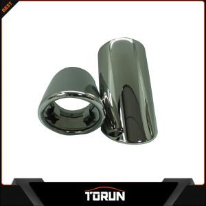 For VW Sagitar T 12-13 Magotan 304 stainless steel exhaust tip Mirror polish Bluing Chrming black surface factory