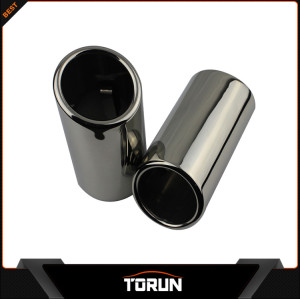 2017 factory produce mirror polish and chroming black exhaust tip muffler pipe