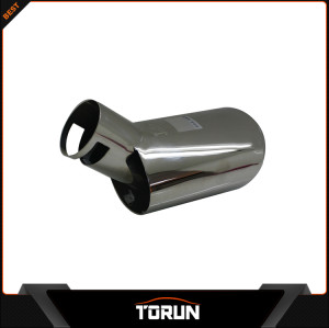 2017 factory high polish for Peugeot 307 304 stainless steel exhaust tip