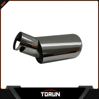 2017 factory high polish for Volvo 09 - 12 S40 304 stainless steel exhaust tip