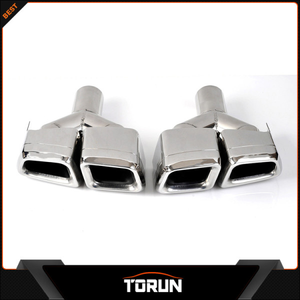 Mirror polish exhaust muffler tip for 2010-2013 Mercedes X166 GL Class change into AMG Style car