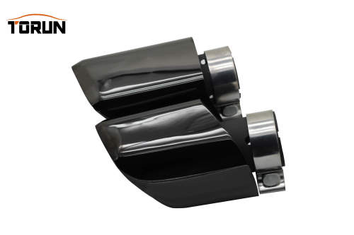 New style polishing with black 304 stainless steel double exhaust pipe for universal car