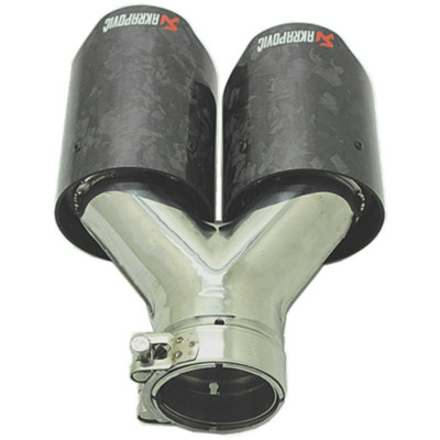 2020 hottest universal for bmw invisibility crator akrapovic dual carbon fiber exhaust tip