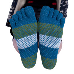 Stripes Five Toe Yoga Socks