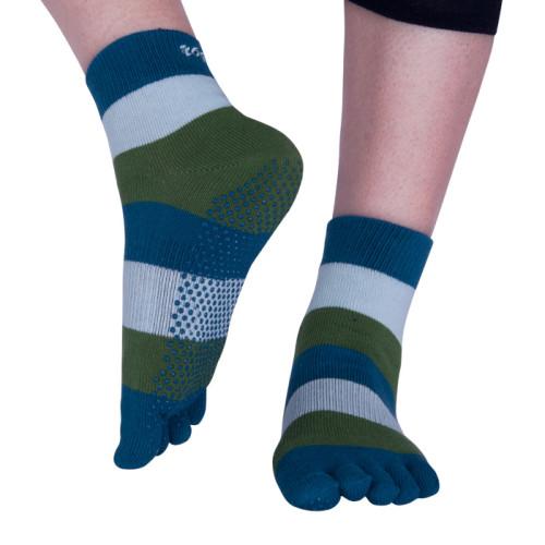 Stripes Five Toe Yoga Socks