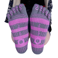 Non Slip Five Finger Socks