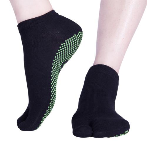 Two Toes Black Tabi Socks