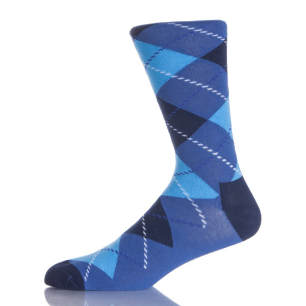 Black And Blue Argyle Socks