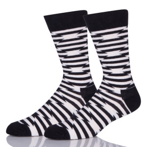 White And Black Stripes Socks