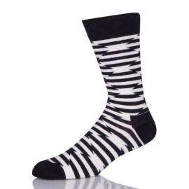 White And Black Stripes Socks