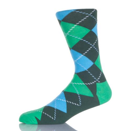 Blue And Green Argyle Socks
