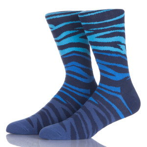 Funky Design Man Blue Socks