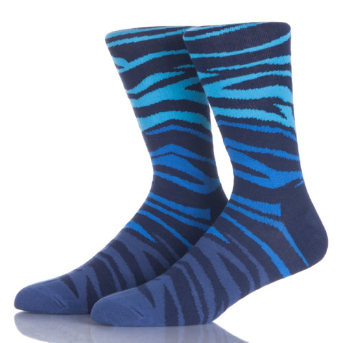 Funky Design Man Blue Socks