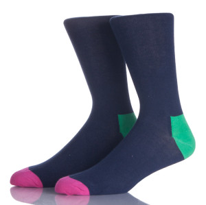 Plain Cotton Business Men Sock