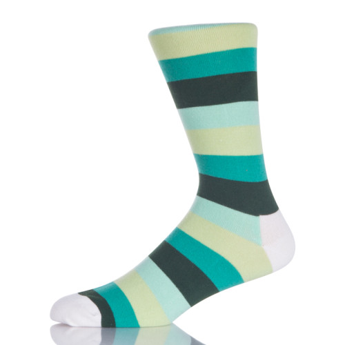 Men Sock With Colorful Stripes
