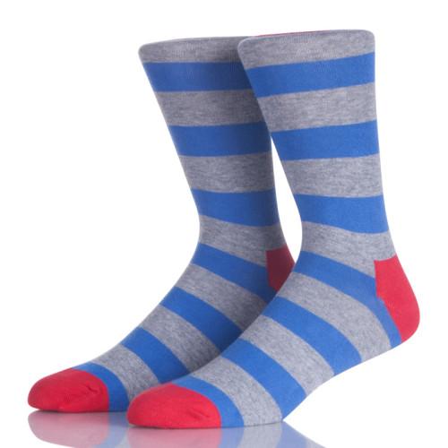 Blue And Grey Stripes Men Sock