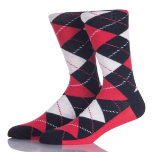 Red And Black Argyle Socks