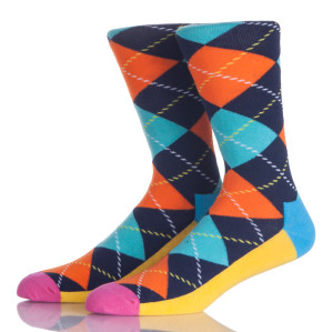 Colorful Argyle Socks Men