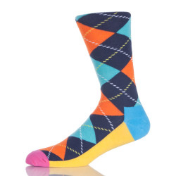 Colorful Argyle Socks Men
