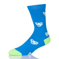 Cartoon Koala Women Blue Socks