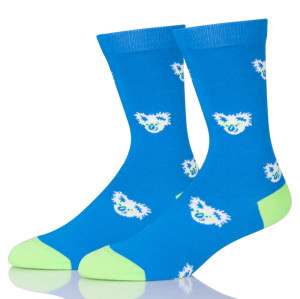 Cartoon Koala Women Blue Socks