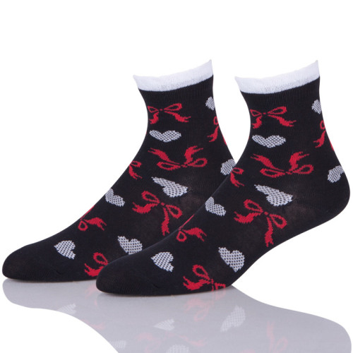 Black Women Socks With Bowknot