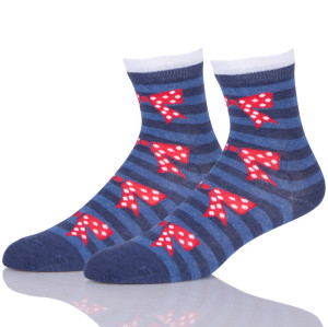 Stripes Socks With Bowknot