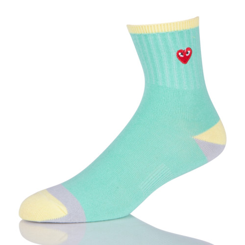 Girl Sock With Embroidery Logo