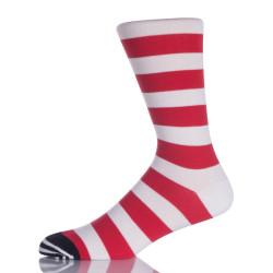 Red And White Stripes Girl Socks