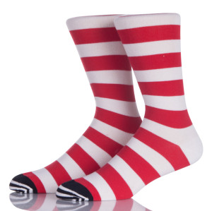 Red And White Stripes Girl Socks