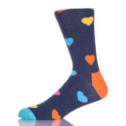 Colorful Heart Knitted Girl Socks