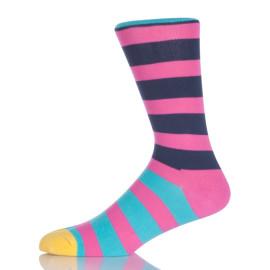Colorful Stripes Pink Socks