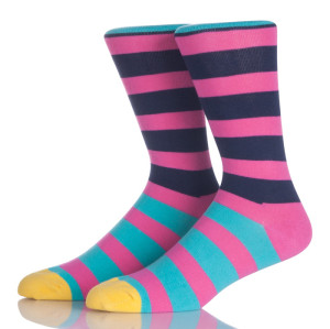 Colorful Stripes Pink Socks