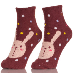Cartoon Rde Tube Rabbit Wool Bunny Socks