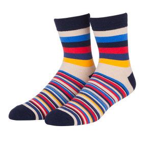 The New Design Colorful Black Yellow Striped Custom Make Your Own Socks Men Socks