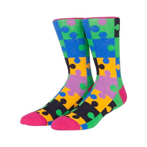New Designer Sheer Puzzle Socks Funny