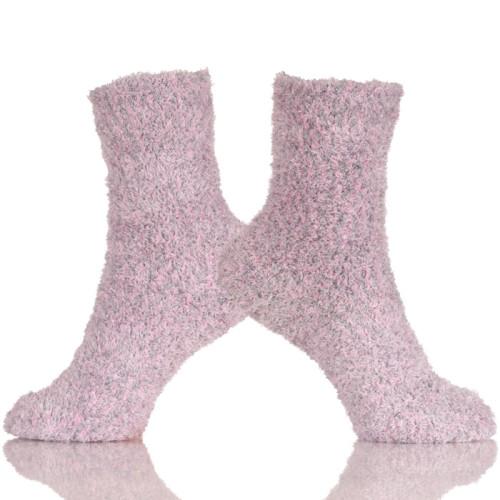 Crew Socks for Winter Low Cut Cozy Fuzzy Slipper Socks Women