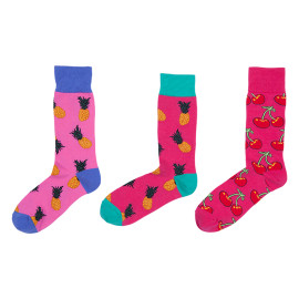 Different Kinds Of Cotton Funny Knitted Mens Socks Colorful Pineapple Pattern Achiever Socks