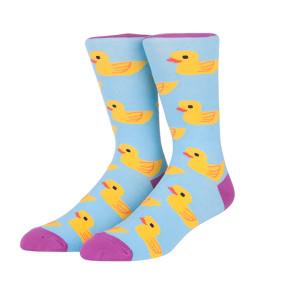 3 Colors Cute Little Duck Cotton Mens Funny Custom Anime Socks