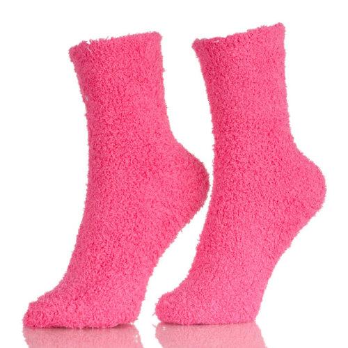 Womens Warm Fuzzy Slipper Casual Plain Sleep Socks Adult