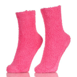 Hot Sales Women Girls Warm Winter Soft Bed Floor Socks Fluffy With Pure Color