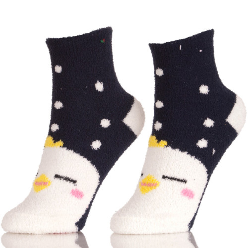 Children Winter Soft Thick Warm Two-Tone Color Wool Socks For Kids Girls