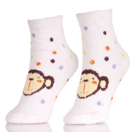 Girls Fuzzy Slipper Socks Soft Warm Stockings For Winter Home Socks