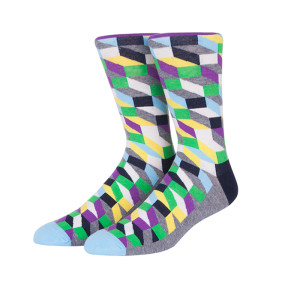 Factory Quality And Reasonable Price 100% Organic New Cotton Color Lattice Socks