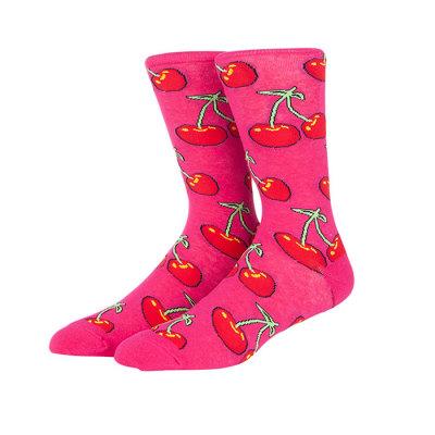China Fashion  Best Selling Fruit Print Long Cherry Pattern Cute Acrylic Socks