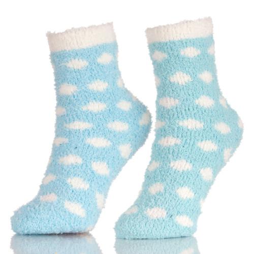 Colorful 6 Womens Cozy Slipper Fuzzy Ankle Floor Socks