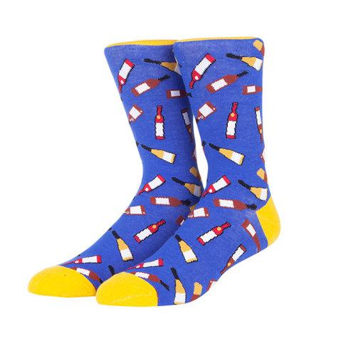 Wine And Brush Pattern Unisex Socks Import Socks Wholesale Price Socks