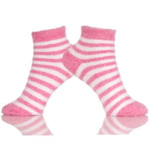 Women's Winter Socks Knitted Slip Sweat Warm Cute Cartoon Stripes Home Slippers Socks
