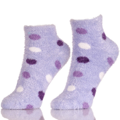 Super Soft Point Pattern Anti-Slip Fuzzy Ankle Warm Socks Winter