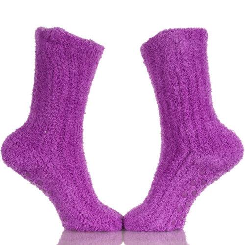 Women Girls Anti-Slip Fluffy Fuzzy Slipper Socks Cute Warm Winter Crew Socks